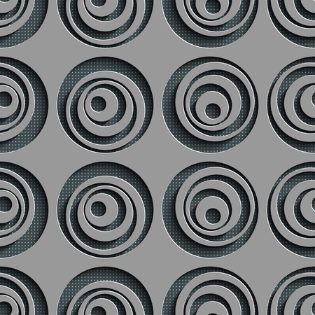 circle pattern: Seamless Circle Pattern. Vector Abstract Background Illustration