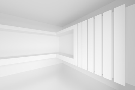 architecture abstract: 3d Abstract Architecture Design. White Modern Background