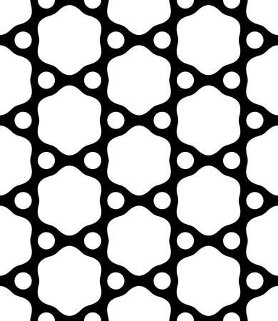 monochrome: Seamless Hexagon Pattern. Vector Monochrome Background