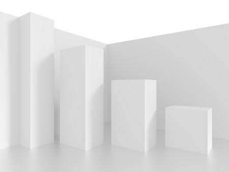 architecture: 3d White Abstract Architecture Background Stock Photo