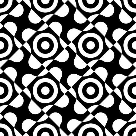 monochrome: Seamless Geometric Pattern. Vector Monochrome Texture Illustration