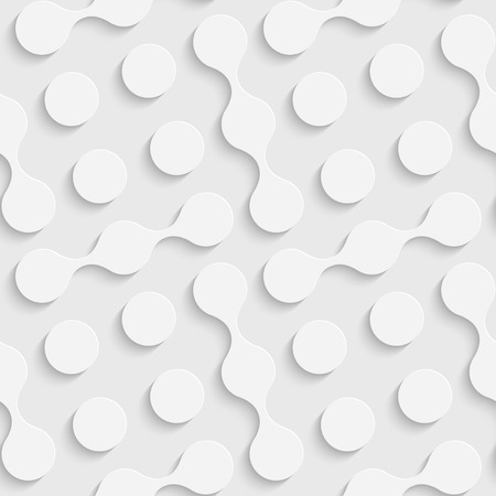 Seamless Circle Pattern. Vector Soft Background. Regular White Texture 矢量图像