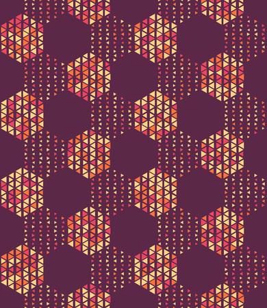 geometric lines: Seamless Hexagon Pattern. Vector Background