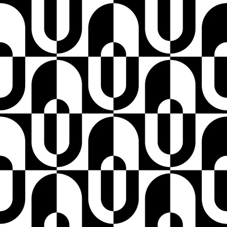 textile texture: Seamless Geometric Pattern. Vector Black and White Texture