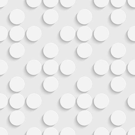 Cerchio modello senza soluzione di continuità. Regolare Texture Bianco