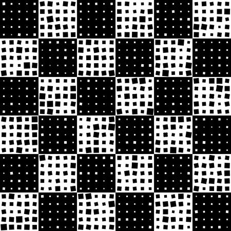 normal: Seamless Square Pattern. Black and White Regular Texture