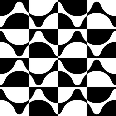 in curved: Seamless Curved Shape Pattern. Illustration