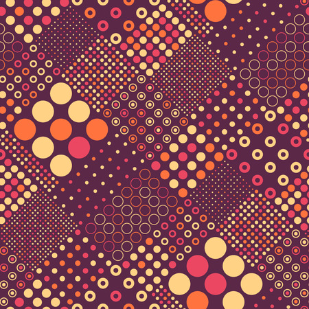 Seamless Circle Pattern. Abstract Background.