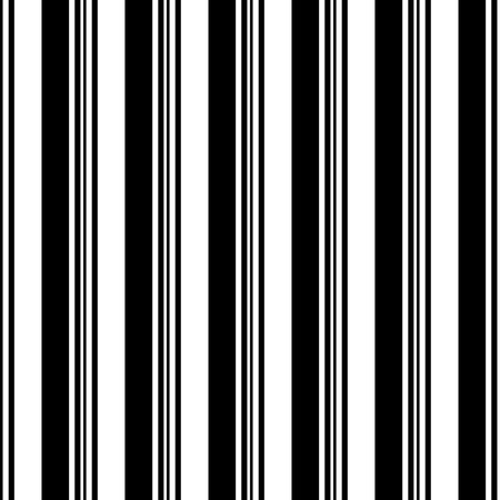 Seamless Vertical Stripe Pattern. Vector Black and White Background