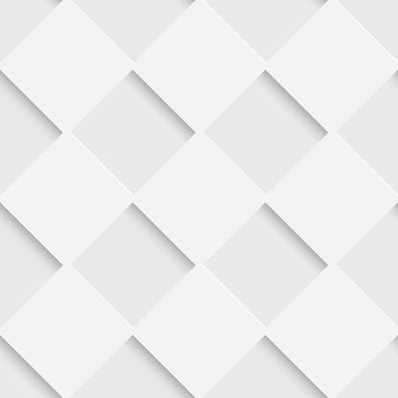 Naadloze vierkant patroon. Vector Zachte Achtergrond. Regelmatige Witte Textuur Stock Illustratie