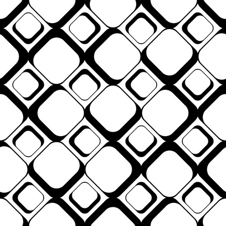 seamless patterns: Seamless Square Pattern. Abstract Black and White Background. Vector Regular Texture