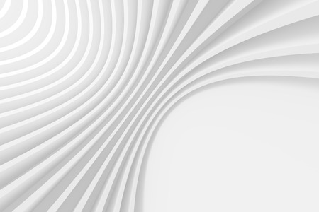 architecture: 3d White Circular Background. Abstract Architecture Design