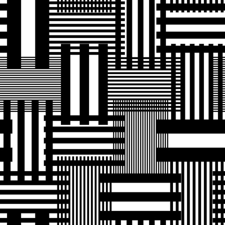 Stripe Seamless and Pattern Line. Vecteur noir et blanc Texture