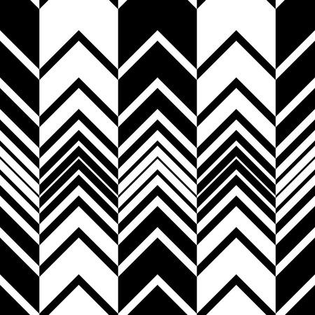 Seamless ZigZag Pattern. Abstract  Monochrome Background. Vector Regular Texture Stock Illustratie