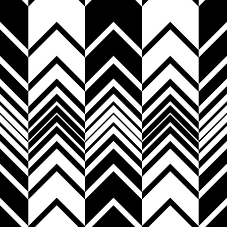 Seamless ZigZag Pattern. Abstract  Monochrome Background. Vector Regular Texture Ilustração