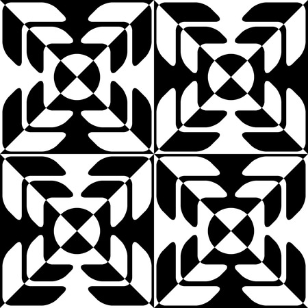 vintage patterns: Seamless Star Pattern. Vector Black and White Background