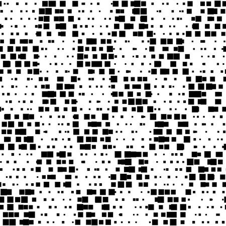 Motif carré sans couture. Vecteur noir et fond blanc Vecteurs