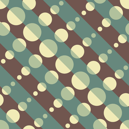 circle pattern: Seamless Diagonal Stripe and Circle Pattern. Vector Background