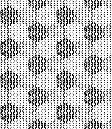 geometric lines: Seamless Hexagon Pattern. Vector Monochrome Background