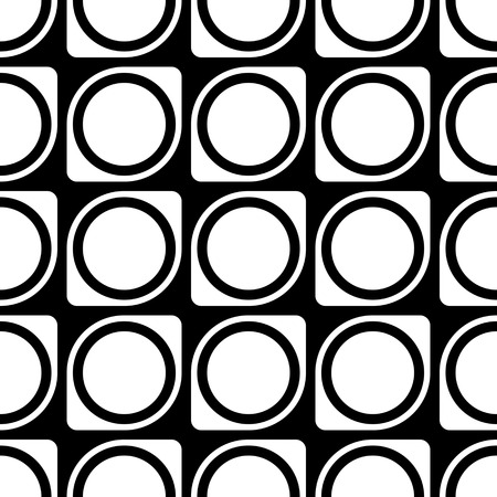 grid pattern: Seamless Grid Pattern. Vector Black and White Background. Regular Texture Illustration