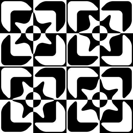 regular: Seamless Square Pattern. Black and White Regular Texture