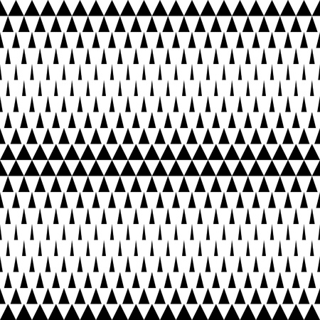 Seamless Triangle Pattern. Abstract Monochrome Background. Vector Regular Texture  イラスト・ベクター素材