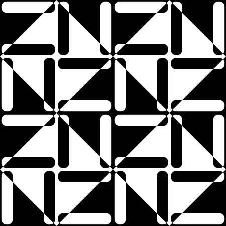 square abstract: Seamless Square and Stripe Pattern. Abstract Monochrome Background. Vector Regular Texture Illustration