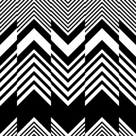Motif ZigZag sans soudure. Abstrait noir et blanc. Texture régulière de vecteur