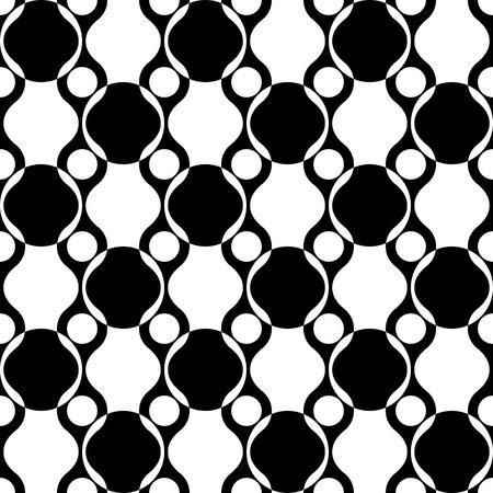vintage patterns: Seamless Circle Pattern. Vector Regular Texture Illustration