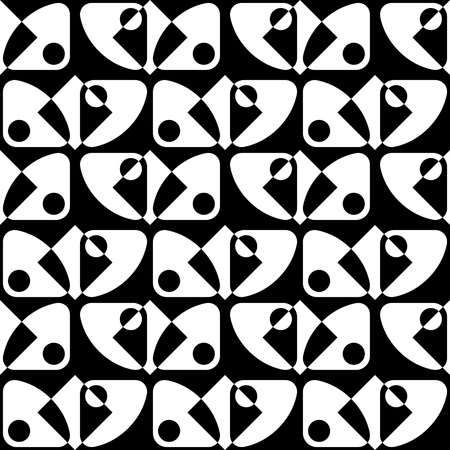 vintage patterns: Seamless Geometric Pattern. Vector Black and White Texture