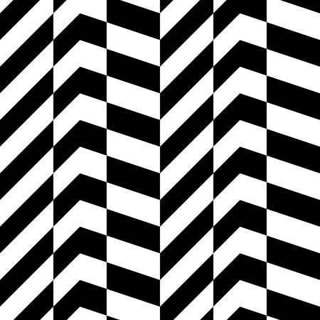 シームレスな幾何学的なパターン。黒と白のベクトル テクスチャ
