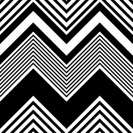 Nahtlose Zickzack-Muster. Abstrakte Schwarzweiss-Hintergrund. Vector Regular Texture Vektorgrafik
