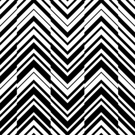 Seamless ZigZag Pattern. Abstract  Black and White Background. Vector Regular Texture  イラスト・ベクター素材