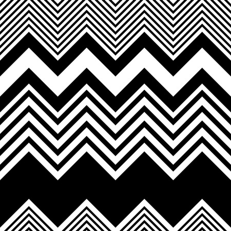 stripes: Seamless ZigZag Pattern. Abstract  Black and White Background. Vector Regular Texture Illustration
