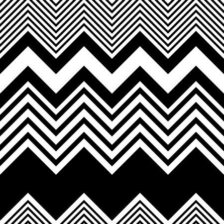 rallas: Zigzag sin fisuras. Resumen Negro y fondo blanco. Vector textura regular