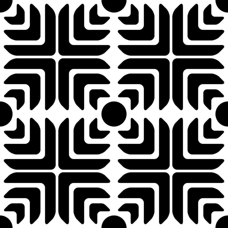 regular: Seamless Star Pattern. Vector Black and White Background. Regular Texture