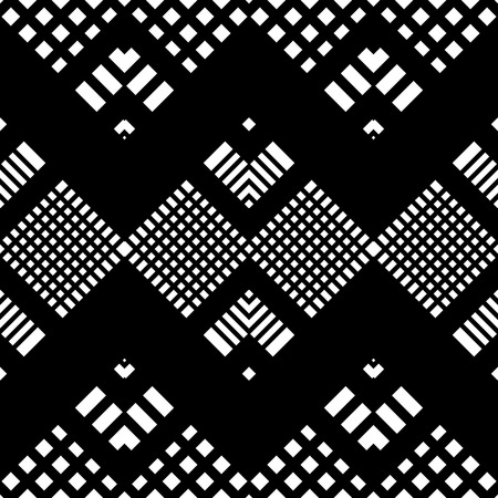 geometric shapes: Seamless Tartan Pattern. Vector Black and White Background