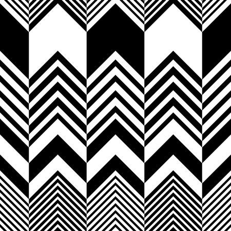 シームレスなジグザグ パターン。黒と白の抽象的な背景。ベクトルの標準テクスチャ