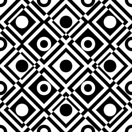 유행: 원활한 격자 패턴. 벡터 검은 색과 흰색 배경입니다. 일반 텍스처
