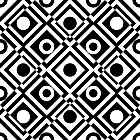trend: Seamless Grid Pattern. Vector Black and White Background. Regular Texture Illustration