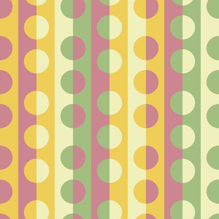 normal: Seamless Stripe and Circle Pattern. Vector Colorful Background Illustration