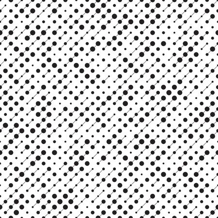 원활한 원형 패턴입니다. 벡터 검은 색과 흰색 배경