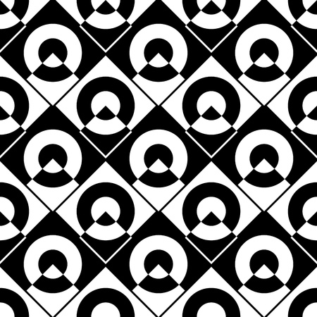 normal: Seamless Grid Pattern. Vector Black and White Background. Regular Texture Illustration