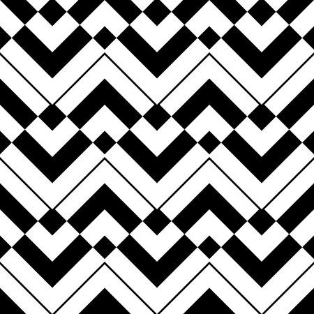 monochrome: Seamless ZigZag Pattern. Abstract  Monochrome Background. Vector Regular Texture Illustration