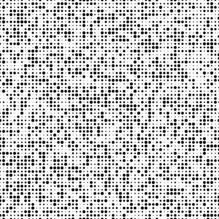 Seamless Circle Pattern. Vector Black and White Background Illustration
