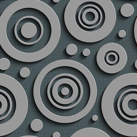 Nahtloses Kreismuster. Vector Abstract Background Vektorgrafik