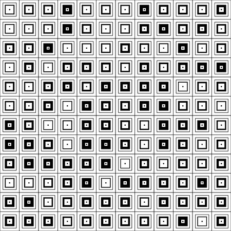 black and white: Seamless Square Pattern. Abstract Black and White Background. Vector Regular Texture
