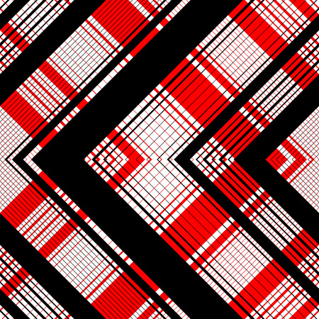 black and red: Seamless Tartan Pattern. Vector Black and Red Background