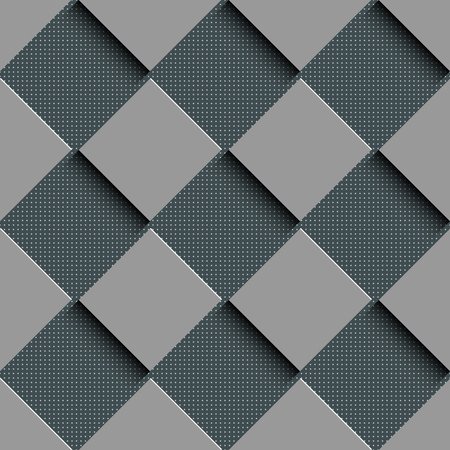 normal: Seamless Square Pattern. Vector Background. Gray Regular Texture
