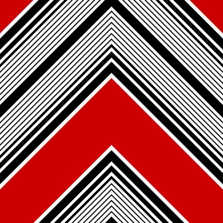 유행: 원활한 스트라이프 패턴입니다. 벡터 검은 색과 빨간색 배경 일러스트